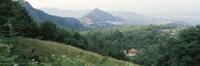 Framed Buildings in a valley, Transylvania, Romania