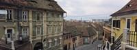 Framed Buildings in a city, Town Center, Big Square, Sibiu, Transylvania, Romania