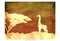 Framed Safari Sunrise IV