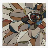 Framed Stained Glass Floral I