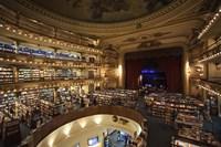 Framed Interiors of a bookstore, El Ateneo, Avenida Santa Fe, Buenos Aires, Argentina