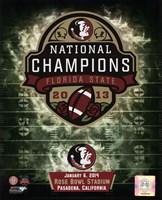 Framed Florida State Seminoles 2014 BCS National Champions Team Logo