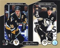 Framed Mario Lemieux & Sidney Crosby Legacy Collection