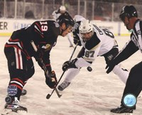 Framed Jonathan Toews & Sidney Crosby 2014 NHL Stadium Series Action