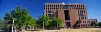 Framed Facade of a government building, Pete V.Domenici United States Courthouse, Albuquerque, New Mexico, USA