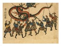 Framed Chinese Dragon Dance