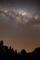Framed center of the Milky Way above the Sierras, Argentina