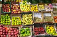 Framed Fruit for sale in the Market Place, Luxor, Egypt