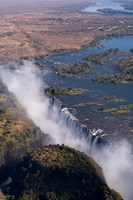 Framed Victoria Falls, Zambesi River, Zambia