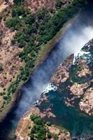 Framed Zimbabwe, Victoria Falls, border of Zambia/Zimbabwe