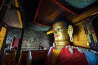 Framed Golden Buddha, Shey, Ladakh, India