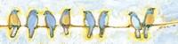 Framed Eight Little Bluebirds