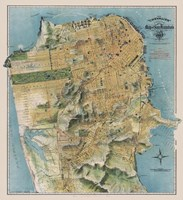 Framed Map of San Francisco, California, 1912