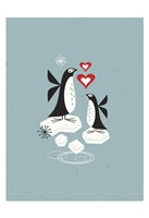 Framed Penguin Love