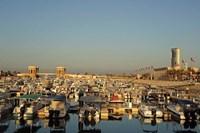 Framed Kuwait, Kuwait City, yacht boats in pleasure port