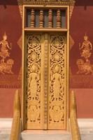 Framed Temple Door, Laos