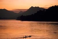 Framed Mekong River at Sunset, Luang Prabang, Laos