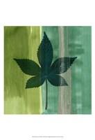 Framed Silver Leaf Tile IV