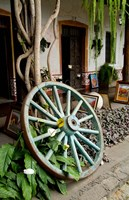Framed Wagon Wheel, La Posada De Don Rodrigo Hotel, Antigua, Guatemala