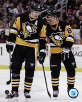 Framed Evgeni Malkin & Sidney Crosby  2014-15 Action