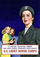 Framed U.S. Cadet Nurse Corps