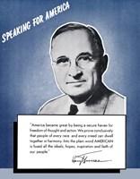 Framed Speaking for America - Harry Truman