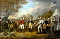 Framed Surrender of British General John Burgoyne