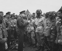 Framed General Dwight D Eisenhower with Soldiers of the 101st Airborne Division