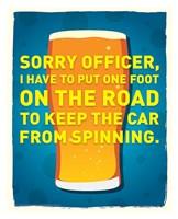 Framed Sorry Officer