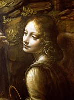 Framed Detail of the Angel, from The Virgin of the Rocks