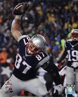 Framed Rob Gronkowski Touchdown celebration AFC Championship Game 2014 Playoffs
