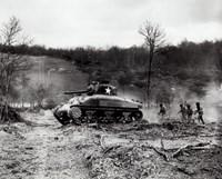 Framed American Sherman tank units, 1943