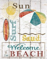 Framed Sun, Surf & Sand