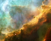 Framed Perfect Storm of Turbulent Gases in the Omega/Swan Nebula (M17)