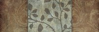 Framed Rustic Leaves I