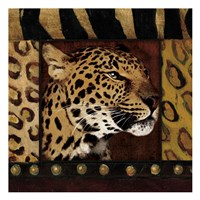 Framed Leopard with Wild Border