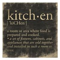 Framed Kitchen Definition
