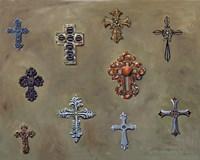 Framed Wall of Crosses