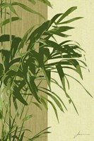 Framed Painted Contrast Leaves I