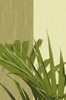 Framed Painted Contrast Leaves IV