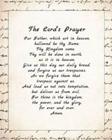 Framed Lord's Prayer - Script