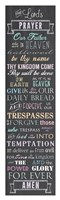 Framed Lord's Prayer - Chalkboard