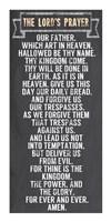 Framed Lord's Prayer - Chalkboard Style