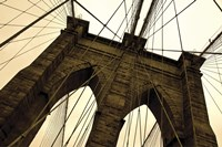 Framed Brooklyn Bridge II (sepia)
