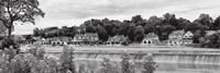 Framed Boathouse Row (b/w)