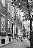 Framed Delancy Street (vertical) (b/w)