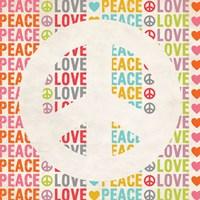 Framed Peace Love 2