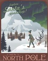 Framed North Pole Christmas