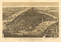 Framed City of New York Map