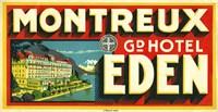 Framed Montreux Grand Hotel, Eden